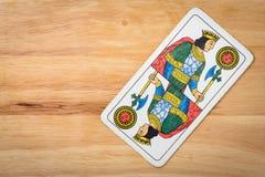 De Koning van het kaartenspel Stock Afbeeldingen