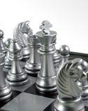 De Koning van het schaak in de menigte Royalty-vrije Stock Afbeeldingen