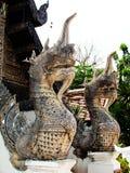 De koning van het standbeeld van nagas Stock Foto