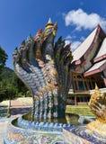 De koning van het standbeeld van nagas Stock Afbeeldingen