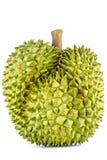 De koning van vruchten, durian geïsoleerd op witte durian achtergrond, is stinkende vruchten Stock Foto's