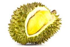 De koning van vruchten, durian geïsoleerd op witte durian achtergrond, is stinkende vruchten Stock Afbeeldingen