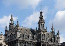 De koningen huisvesten in Grote Plaats in Brussel Stock Afbeelding