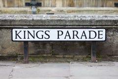 De koningen paraderen in Cambridge Royalty-vrije Stock Afbeelding