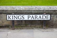 De koningen paraderen in Cambridge Royalty-vrije Stock Foto's