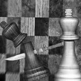 De Koningen van het schaak stock fotografie