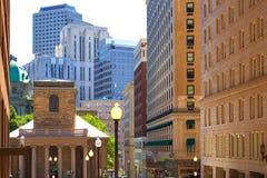 De Koningenkapel van Boston in de straat van Tremont en van de School Royalty-vrije Stock Foto