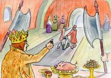 De koningin en de bedienden stock illustratie