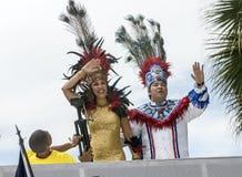 De Koningin en de Koning van Carnaval Stock Afbeeldingen