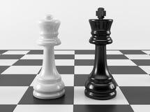 De Koningin en de Koning van het schaak Stock Afbeeldingen