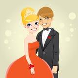 De Koningin en de Koning van Prom Stock Afbeeldingen