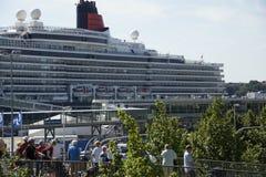 De koningin in Kiel Stock Fotografie