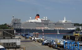 De koningin in Kiel Stock Foto