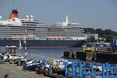 De koningin in Kiel Stock Foto's