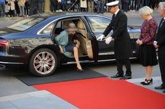 DE KONINGIN MARGRETHE EN ROYALS KOMT BIJ HET PARLEMENT AAN Royalty-vrije Stock Foto's