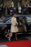 DE KONINGIN MARGRETHE EN ROYALS KOMT BIJ HET PARLEMENT AAN Royalty-vrije Stock Foto