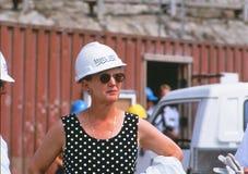 De koningin Margrethe II bij Grote riem Royalty-vrije Stock Afbeelding