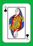 De koningin van clubs vector illustratie