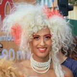 De Koningin van de blondebelemmering Royalty-vrije Stock Afbeeldingen