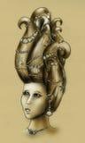 De koningin van de meermin - wijnoogst Stock Foto's