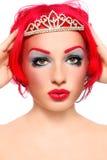 De koningin van de roodharige Stock Foto