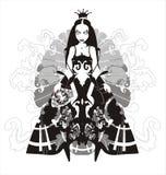 De koningin van de vampier - vectorillustratie Stock Foto