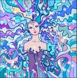 De koningin van de winter Stock Illustratie