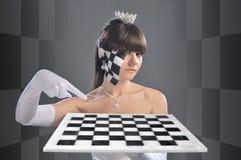 De koningin van het schaak Stock Foto's