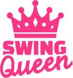 De koningin van de schommelingsdans met kroon Royalty-vrije Stock Fotografie