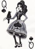 De koningin van spades Stock Fotografie