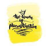 De koningin van uitstel vector illustratie