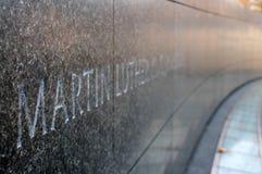 De konings jr monument van Martin luther Stock Afbeeldingen