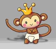 De koningsaap 02 van de baby vector illustratie