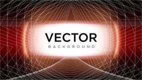 De koninklijke Achtergrond van het Fantasie Vector Geometrische Vectorpatroon van Lijnkunst en één of ander Oranje Zeldzaam Lens  vector illustratie