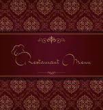 De koninklijke dekking van het restaurantmenu Royalty-vrije Stock Afbeeldingen