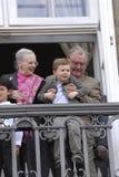 DE KONINKLIJKE FAMILIE VAN DENEMARKEN Royalty-vrije Stock Afbeelding