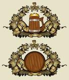 De koninklijke gouden achtergrond van de bierluxe Stock Fotografie