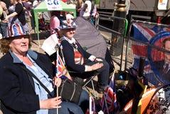 De koninklijke kampeerauto's van het Huwelijk, de Abdij van Westminster. Royalty-vrije Stock Foto's