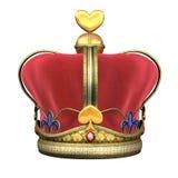 De Koninklijke Kroon van de koning Stock Afbeeldingen