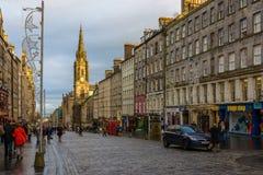 De Koninklijke Mijl in Edinburgh, Schotland Royalty-vrije Stock Fotografie