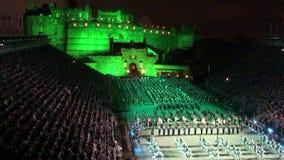 De koninklijke Militaire Tatoegering van Edinburgh stock videobeelden