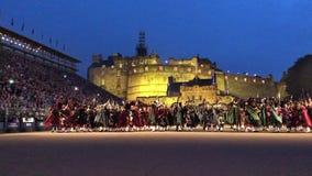 De koninklijke Militaire Tatoegering van Edinburgh stock video
