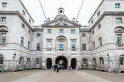 De koninklijke parade van Paardwachten bij het Huis van Admiraliteit in Londen Stock Fotografie