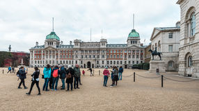De koninklijke parade van Paardwachten bij het Huis van Admiraliteit in Londen Royalty-vrije Stock Fotografie