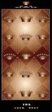 De koninklijke prentbriefkaar van de chocolade Stock Fotografie