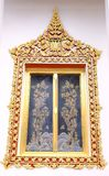 De koninklijke stijlvensters van heiligdom in Nonthaburi royalty-vrije stock fotografie