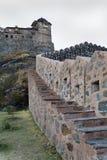 De koninklijke toren Rajasthan India van het Fort van Kumbhalgarth Stock Fotografie