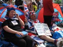 De koninklijke ventilators van het Huwelijk Royalty-vrije Stock Afbeeldingen