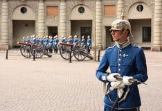 De koninklijke verandering van de Wacht, Stockholm stock afbeeldingen