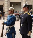 De koninklijke verandering van de Wacht, Stockholm royalty-vrije stock foto